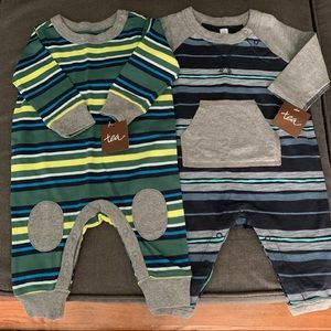NWT Tea Rompers Boys 0-3 Months